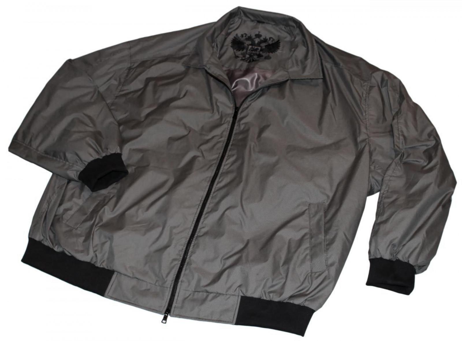 0e44f71cb03 Куртка-ветровка большого размера  Куртка-ветровка бомбер из плащевки серого  цвета для полных ...