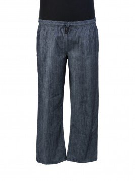c326d81ba1bd Брюки большого размера из джинсы большого размера серого цвета c карманами  в боковых швах