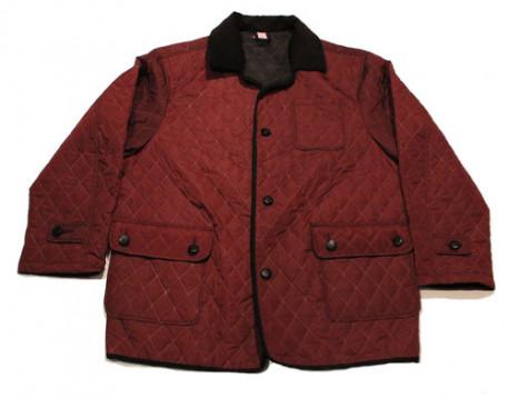 Купить Стеганая куртка большого размера бордового цвета на тонком синтепоне за 4900 руб. в интернет-магазине Мой-размер - Магазин Мой-Размер